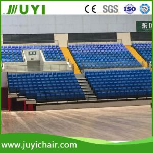 Manual or Electrical Telescopic Bleacher Retractable Seating System with Foldable Chair Jy-720 pictures & photos