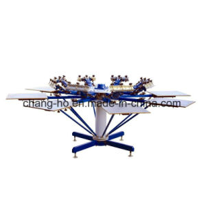 8 Color Garment Screen Printing Table pictures & photos
