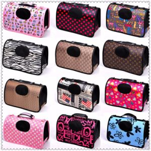 Folding Printing Pet Carrier Bag Cat Dog Carry Hand Tote Bag Travel Portable Puppy Dog Backpack pictures & photos