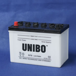 N70 12V70ah High Performance JIS Standard Dry Charged Car Battery pictures & photos