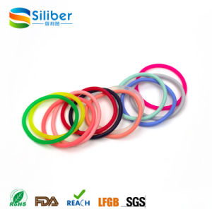 Rainbow Color Silicone Bracelet Woman Elastic Hair Band