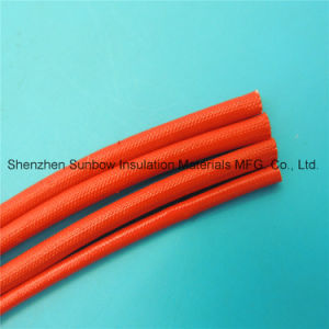 Wear Resistant Flexible Soft Acrylic Resin Coated Black Fiberglass Insulation Sleeving for F Grade Motor pictures & photos