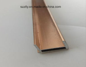 6063t5 Alloy Brushing Anodised Aluminium Extrusion Profile pictures & photos