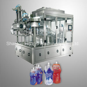 1liter Water Filling Machine for Spouted Standing Pouch pictures & photos