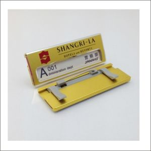 Aluminium Working Chest Card Pin Employee Name Badge pictures & photos