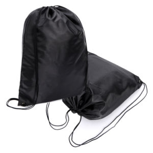 Polyester Nylon Drawstring Shopping Bag Backpack (YYDB040) pictures & photos