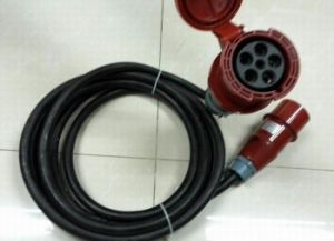 Power Cable with 63A C Form Male to Female pictures & photos
