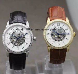Mens Mechanical Skeleton Wrist Watch with Stainless Steel Case pictures & photos