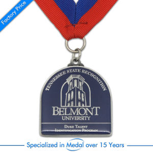Custom Enamel Silver Sport Finisher Medal in Round Shape pictures & photos