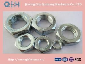 Hexagon Thin Nuts (Hot Galvanizing 04 05 Uni5589) pictures & photos