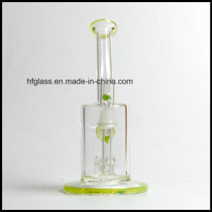 Hfy Glass High Quality 8 Inches Toro Slyme Green Smoking Pyrex Water Pipe with Jet Perc by American Imported Color Heady Hookah pictures & photos