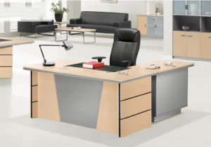L Shape Large Extension Table Wooden Office Desk (HX-AD806) pictures & photos