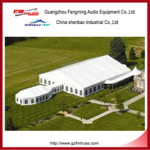 20X25m 500 People Royal Marquee Wedding Tent Decorated with Lining and Clear PVC Windows pictures & photos