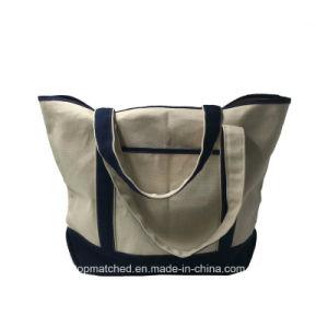 China Factory Beautiful Design Drawstring Cotton Shopping Bag pictures & photos