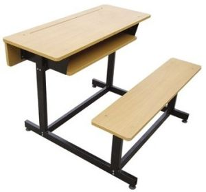 Double Desk and Chair, Student Desk and Chair, College Table Chair School Furniture pictures & photos