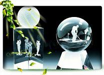 3D Laser Crystal Ball for Decoration (CL-M005)