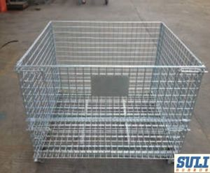 Collapsible & Stackable Wire Mesh Containers pictures & photos