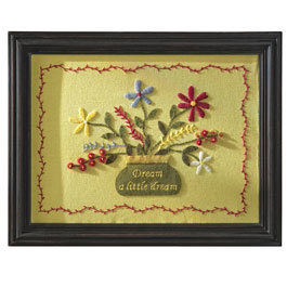 Hand-Embroidered Wall Art (MMW067)