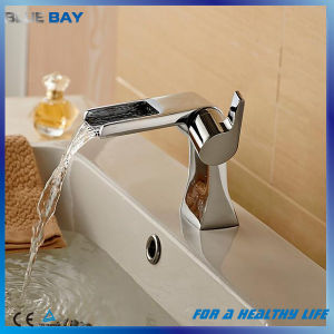 2017 New Design Brass Waterfall Bathroom Faucet pictures & photos