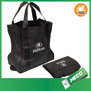 BSCI Audited Recyclable Folding Laminated Promotional Non Woven Bag (MECO351) pictures & photos