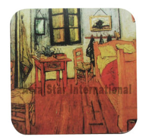 Square Oil Painting Cork Coaster pictures & photos
