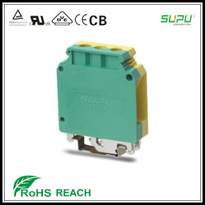 Rail Mounted Grounded Terminal Blocks UL 1000V 115A 18-2AWG pictures & photos