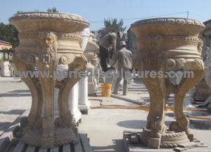 Garden Flower Pot with Stone Marble Limestone Granite Sandstone (QFP326) pictures & photos