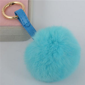 Raccoon Fur POM POM, Fox POM POM, Rabbit Fur Pompoms pictures & photos