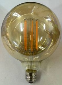 Global Bulb Long Filament LED Lighting G125 Golden Glass Dimming Ce Approval Lamp