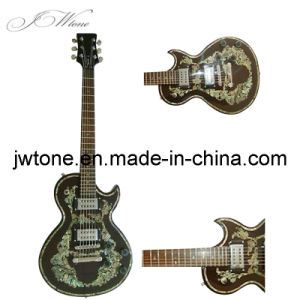 Real Abalone Inlay on Body Top Custom Quality Electric Guitar pictures & photos
