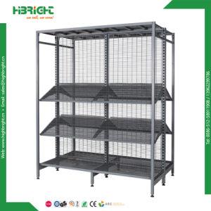 Double Side Heavy Duty Supermarket Shelf Rack pictures & photos