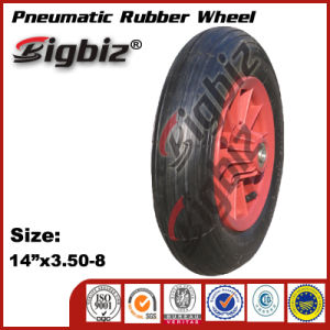 China Factory Made Colored Wheelbarrow Wheel pictures & photos