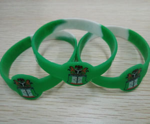 Anti-Crime Nigeria Customized Printing Silicone Bracelet pictures & photos