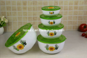 Set 5 PCS Plastic Food Storage Containers with Design (LS-1003)