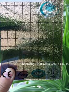 Bronze Nashiji Wired Patterned Glass with Ce, ISO (3-8mm) pictures & photos