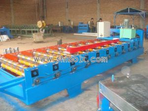 Trapezoidal Sheet Aluminum Roll Forming Machine for Roof Panel (SB25-200-1000)