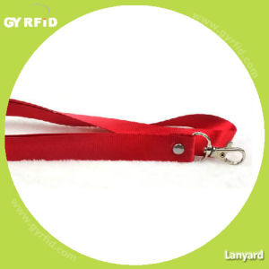 Fabric Lanyard 2cm Width, Fine Thread, with Scale Hook (LY2001) pictures & photos
