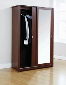 Durable Bedroom Sliding Mirrored 2 Door Wardrobe Dresser (WB38) pictures & photos