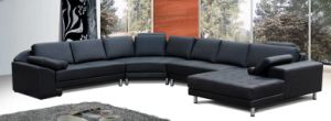 Italy Top Grain Leather Sofa (H1012)