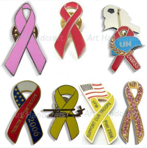 Ribbon Shape Lapel Pin (AL1327)