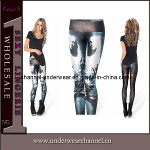 Fashion Women Sexy Ice Man Printing Leggings (D099) pictures & photos