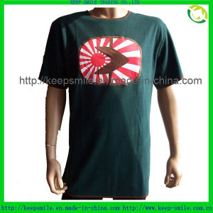 Custom Cotton T-Shirt with Sublimation Patch on Front pictures & photos
