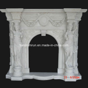 White Marble Statuary Fireplace Mantel pictures & photos