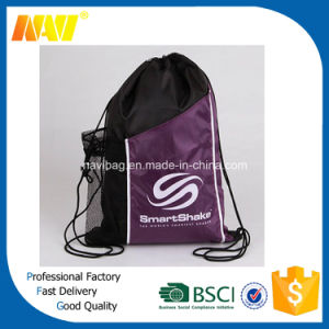 Sport Gym Drawstring Bag with Side Pocket pictures & photos