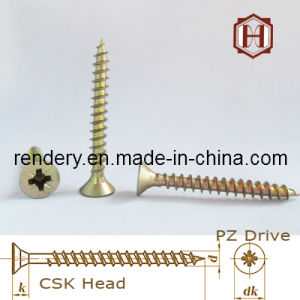 Chipboard Screw Zinc Coated Yellow Color Hot Sell pictures & photos