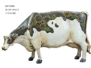 Polyresin Cow Figirine (D24-79004)