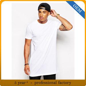Wholesale 100% Cotton Men′s Long White T Shirt pictures & photos