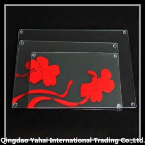 4mm Clear Tempered Set Glass Cutting Board with Pattern pictures & photos