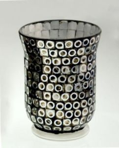 2016new Design Classical Glass Mosaic Candle Holder pictures & photos
