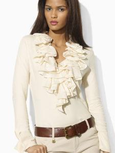 Lady Fashion Cotton Top T-Shirt / Fashion Clothes (FC0192) pictures & photos